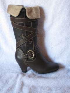Girls Brown Boots Youth Size 9 4