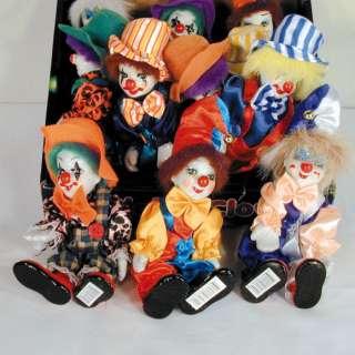 BEND PORCELAIN CLOWN DOLL circus clowns novelty items