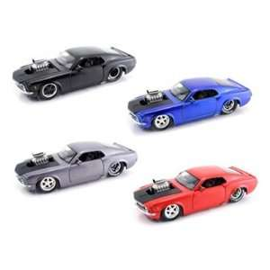 1970 Ford Mustang BOSS 429 Blown Engine 1/24 Set of 4 Toys & Games