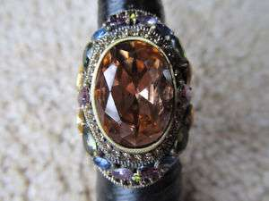 New HEIDI DAUS Shirli Stunning Crystal Ring Sz 10