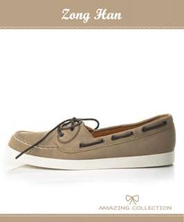 BN Comfy Slip on Womens Boat shoes Brown & Khaki Color