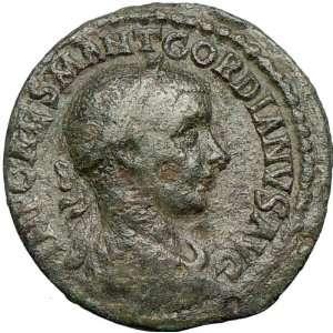 VIMINACIUM 240AD Sestertius Ancient Roman Coin LEGION BULL LION rare