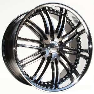 XIX X23 Wheels/Rims BMW 5 7 Series 22x9 22x10.5 Black Chrome Lip 4pc
