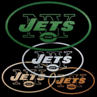 New York Jets Green Metallic Auto Window Sticker Decals