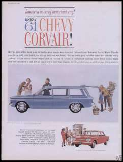 1961 Chevrolet Corvair Ad Chevy Station Wagon Coupe