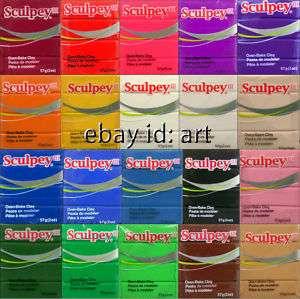 New 2oz Sculpey III Polymer Clay 57g Blocks: pâte à modeler / Pasta