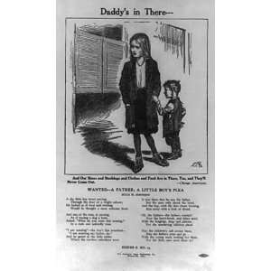 Anti saloon broadside,Daddys in there,poem,J Johnson
