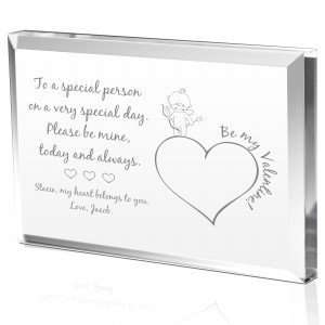 Cupid Valentines Day Gift Plaque Grocery & Gourmet Food