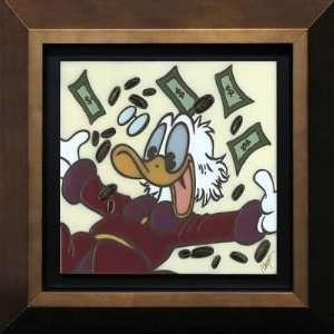 Scrooge McDuck   Disney Fine Art Framed Tile by Allyson Vought