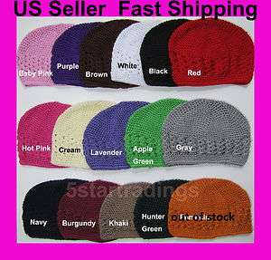 Crochet Beanie Kufi Hat Cap Kids Big Girl Wholesale Lot