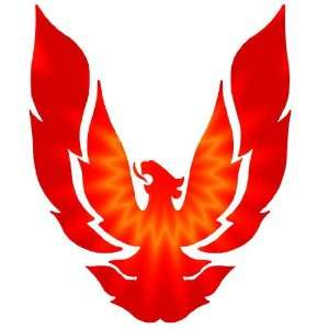 Full Color Custom Phoenix Hood Decal Graphics Sticker: Automotive