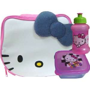 Super Cute Hello Kitty Face Shape Lunch Box + Container