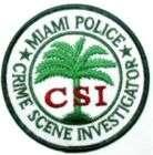 MAIMI POLICE CRIME SCENE INVESTIGATOR CSI PATCH PATCHES