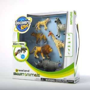 Smart Animal Figures 6 Pack   Grassland Animals: Toys & Games