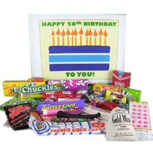50th Birthday Gift Box of Retro Candy  Grocery & Gourmet