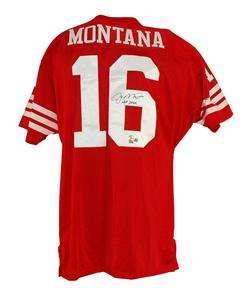 Joe Montana Autographed San Francisco 49ers Jersey