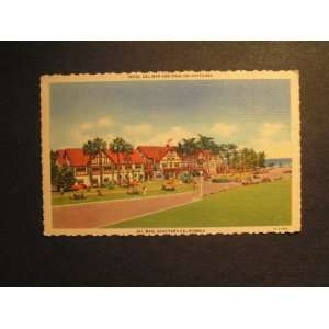 30s Linen Hotel Del Mar & Cottages, California Postcard
