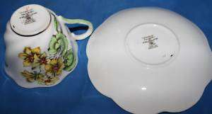 Salisbury Fine Bone China Cup and Saucer Geranium