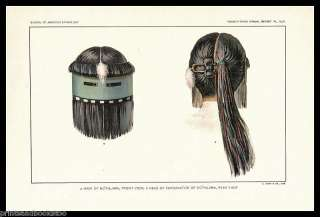 1901 Print 44 Zuni Indian Religion Dance Kothlama MASK