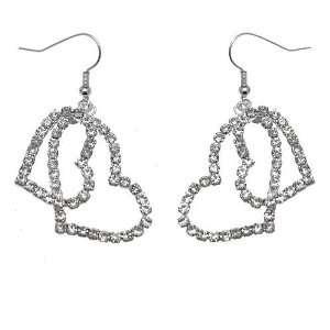 Acosta Jewellery   Diamante Crystal Double Heart Charm