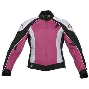 Joe Rocket Lotus Ladies Textile Motorcycle Jacket Pink/White/Black