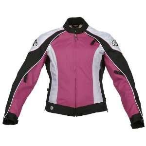 Joe Rocket Lotus Ladies Textile Motorcycle Jacket Pink/White/Black