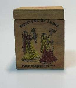 OLD INDIAN DARJEELING TEA 125 GRAM WOOD BOX