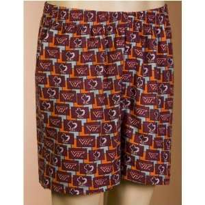 Tech Hokies NCAA Mens Pattern 2 Boxer Shorts Sports & Outdoors