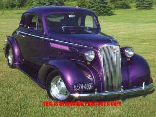 1937 Chevrolet Rumble Coupe rat rod car print