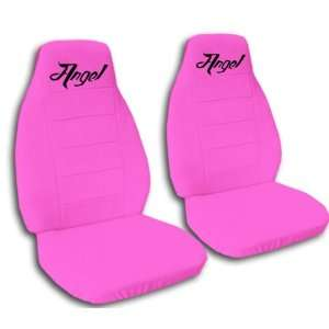 2 hot pink Angel car seat covers for a 2003 Mini Cooper