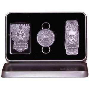 Harley Davidson   Zippo Gift Set