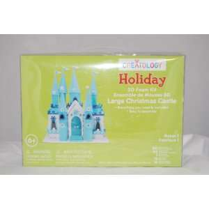 Holiday Large Christmas Castle 3D Foam Craft Kit Toys & Games
