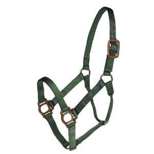 Antique Dot Halter   Horse Hunter Green