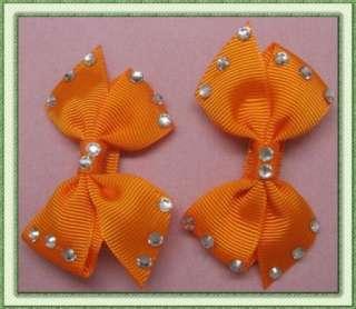 GIRLS BABY HAIR BOW CLIP DIAMOND BUTTERFLY ALLIGATOR CLIP