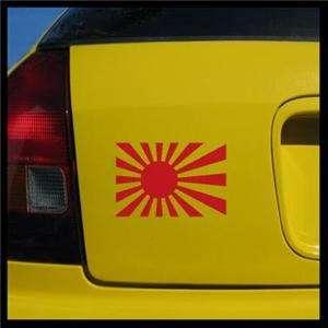 JDM Rising Sun Decal, Drift Japanese Race Sticker Flag