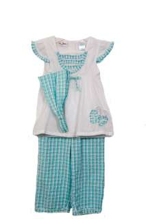 NWT BT Kids Girls 2 pc top and pants set 091939777767