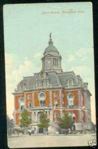 12 MANSFIELD Ohio Postcard COURT HOUSE Richland county