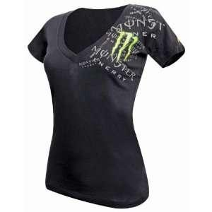ONE INDUSTRIES MONSTER GIRLS BRAGG BLACK V Neck Tee Shirt