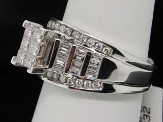 LADIES WHITE GOLD 1C DIAMOND PRINCESS ENGAGEMENT RING