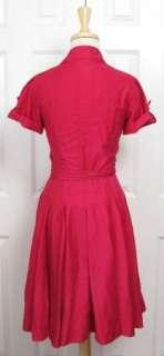 Chic DVF DIANE VON FURSTENBERG Aria Fuchsia Bloom Wrap Dress 4 S