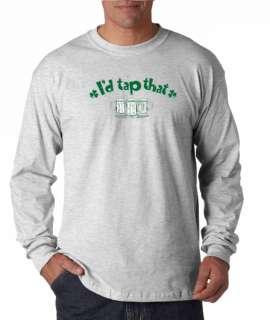 Id Tap That Funny Irish Long Sleeve Tee Shirt