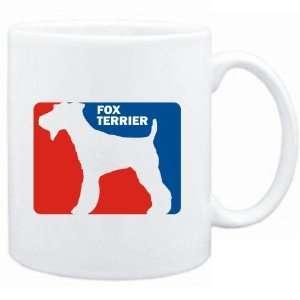 Mug White  Fox Terrier Sports Logo  Dogs Sports