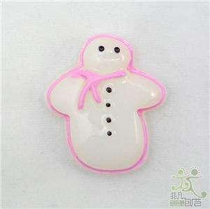 10 resin white snowman flatback/Button craft embellish