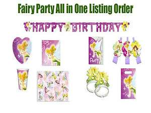 Tinkerbell Birthday Party Supply All In One Listing Princess Disney