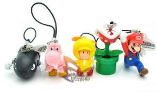 Super Mario Figure Mobile Call Phone Strap 5PCS MS1070