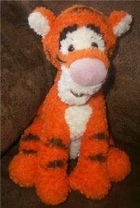 DISNEYS TIGGER plush POOHS friend STUFFED tiger TOY 9 chenille SOFT