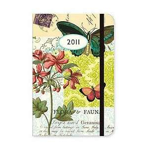 2011 Weekly Planner By Cavallini  Flora & Fauna Butterfly