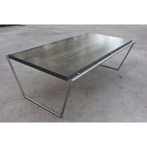 Mathias Maple Cutting Board Steel Rod Coffee Table Home