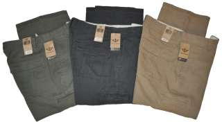 DOCKERS Weekend Khaki Flat Front Mens Pants D3 Classic Mobile Pocket