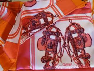 HERMES Silk n Leather Brides De Gala Silkypop Purse Bag Brand New $